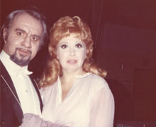 "Dan Iordachescu cu Beverly Sills in ""Traviata"" la San Francisco"
